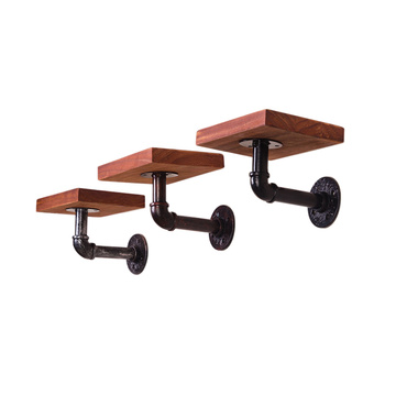 Industrial Floating Hanging Pipe Shelf Bracket
