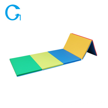 PVC Colorful Foam Folding Gymnastics Tumbling Mat