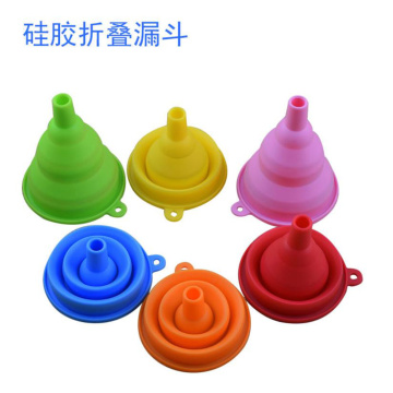 100% Food Grade Liquid Transfer Silicone Collapsible Funnel
