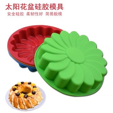 9'' Kitchen DIY Flower Shape Silicone Cake Mold