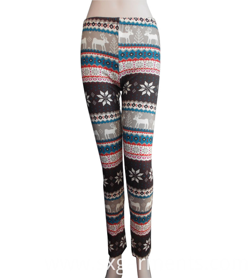 Lady's 98%polyester 2%spandes Leggings