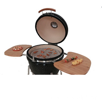 Outdoor Kitchen BBQ Big firewood Green Kamado Grill