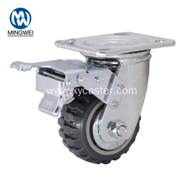 4 Inch Industrial Swivel PVC Caster With Brake