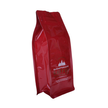 custom printed 12oz 24oz flat bottom plastic coffee bag manufacturer