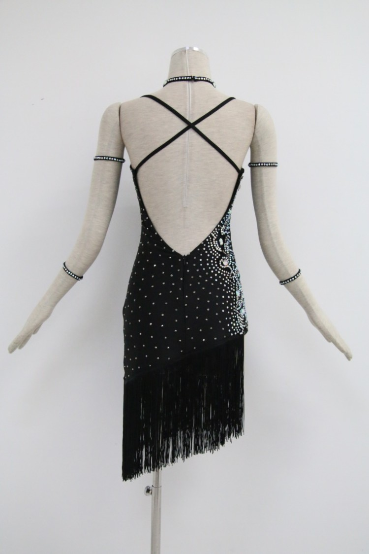 Black Competition Dance Costumes