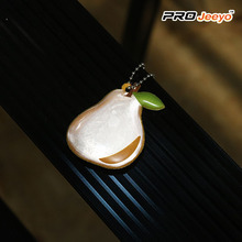 Reflective Safety Pear Shape PVC Keychain Kids Pendant