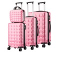 Hard case travel trolley 3 piece luggage set