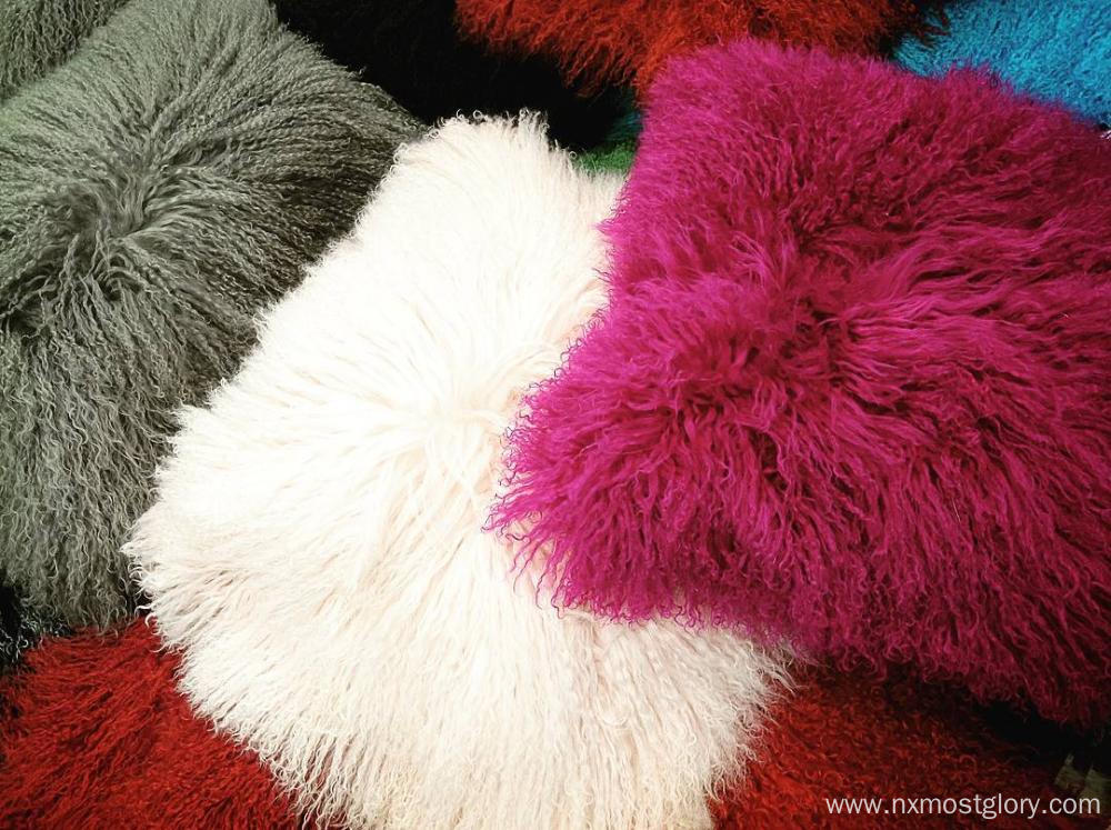 Faux Fur Mongolian cushion cover