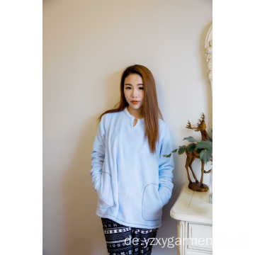 Skyblue-Pyjama-T-Shirt mit Flanellmuster