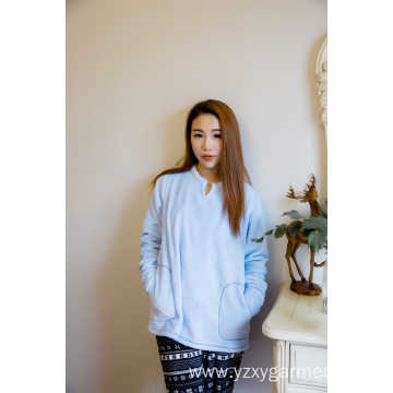 Skyblue flannel pajama top t-shirt