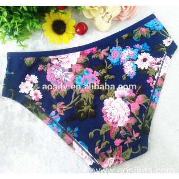 AS-558 thermal underwear printing women panty hipster Qmilch underpants