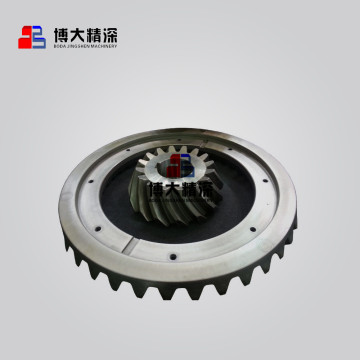 stone cone crusher machine gear and pinion parts