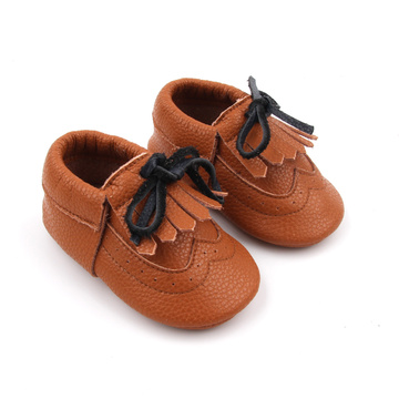 Soft cheap leather baby 0-24months walking casual shoes
