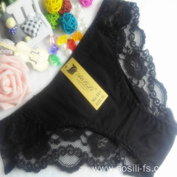 OEM wholesale new style black hipster sexy China cotton fancy underwear 501