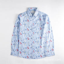 Comfortable Men's Long Sleeve Floral Printed Casual Shirt