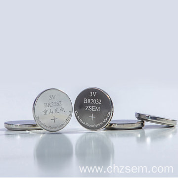 Button Lithium-fluorocarbon Battery (Li-(CFx)n) Of BR1225