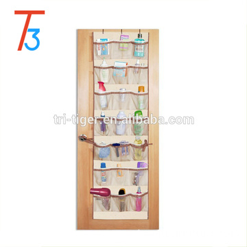 Fabric hanging wall pocket shoe storage organizer with 42 Pocket