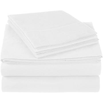 4PCS 400TC Cotton Saten Bedding Sheet Set