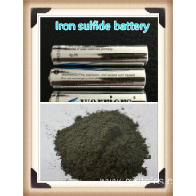 Iron sulfide for high capacity lithium batteries