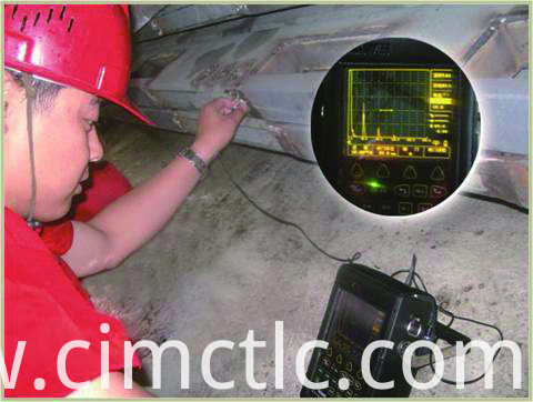 Ultrasonic test for ISO Standard Generator Container