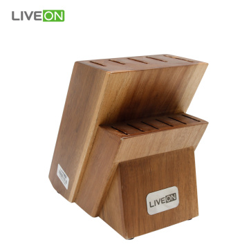 12 pcs Acacia Wooden Block Knife Set