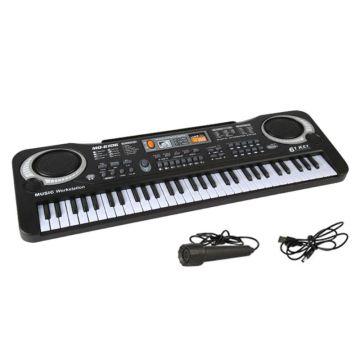 61 Keys Electronic Organ Digital Piano Keyboard with Microphone Kids Children Music Toy