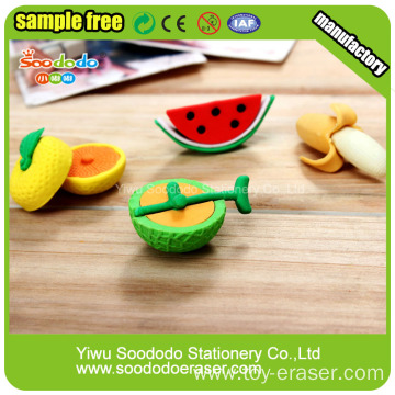 TPR Chinese Fruit Shaped Eraser,school eraser Supplier