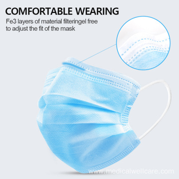 3Ply Disposable Sugical Medical Face Mask With Earloop
