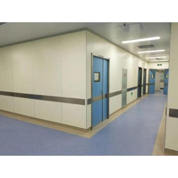 Beige fiber cement board for hospital corridor wall