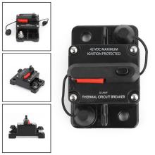 Areyourshop 50A 60A 80A 150A 250A Waterproof Circuit Breakers Reset Fuse 12V-24V DC For Auto Car Audio Marine