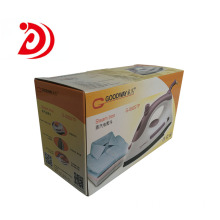 Electric iron colored cardboard boxes