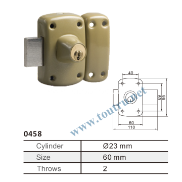 Security rim door lock solid brass lock