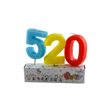 Huaming Wholesale Colorful Numberal Birthday Cake Candles