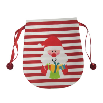 Portable christmas gift bag with cute santa pattern
