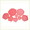 Set Of 6 Heat Resistant Silicone Stretch Lids