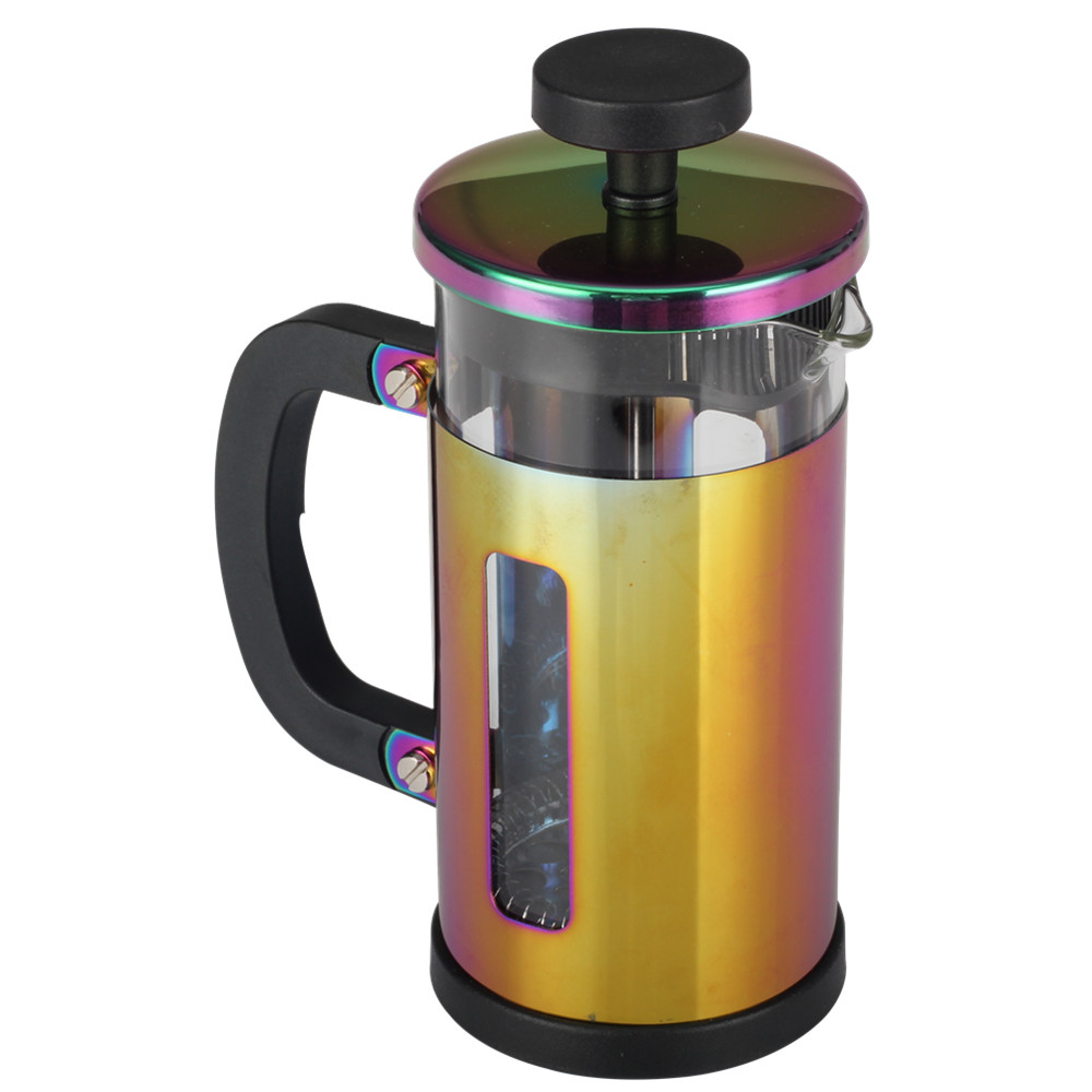 Stainless Steel Lid Glass French Press Glass Kettle