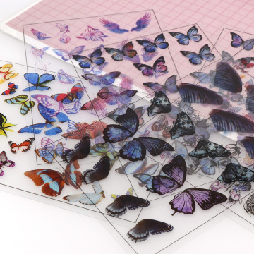1pcs Butterfly UV Resin Fillings Sticker Journal Material Decorative DIY Filling Planner Diary Scrapbooking Album Stickers