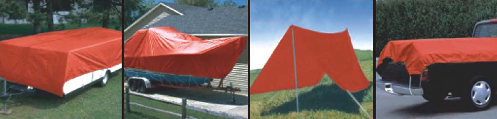 Red Tarpaulin Cover