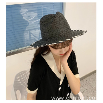 Fashion style tassels beach summer paper straw hat