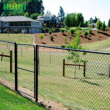 Decorative chain link diamond fence for baseball fields