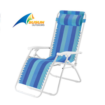 Garden Recliner Chair With Pillow