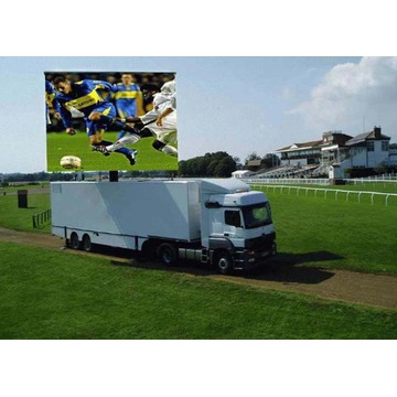 High Brightness Truck Advertising Video Wall Display Screen