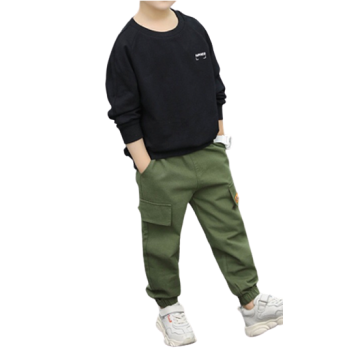 Boys Spring Autumn Knitting Printed Letter Long-sleeved Suit
