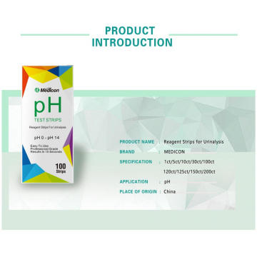 Factory price rapid Ph 0-14 test strips