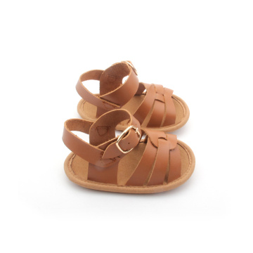 Skid Proof Buckle Genuine Leather Baby Sandals