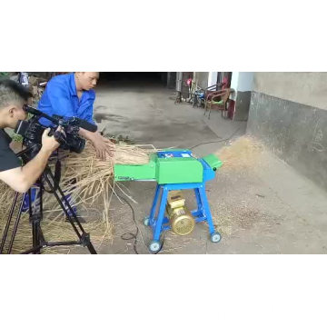 homemade gasoline forage chaff cutter for animal