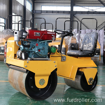 Small ride-on double drum compactor machine diesel power road roller FYL-850S