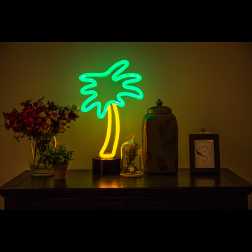 TABLETOP STAND LED NEON HAKI