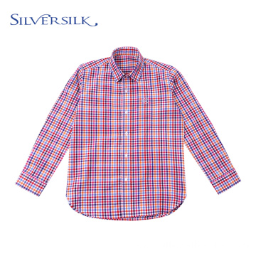Preppy Tops Blouse Colorful Checks Boys Shirts Long