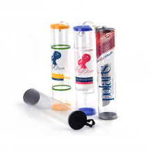 plastic PET PP PVC material hair extension tube cylinder packaging
